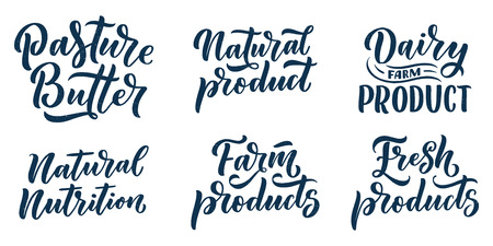 Lettering quote, great design for any purposes. Vector slogan illustration. Tasty breakfast. Diet food. Pasture, healthy nutrition. Vettoriali