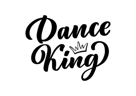 Hand drawn phrase about dance for print, poster design. Lettering quote and creative concept. Vector illustration Vector Illustratie