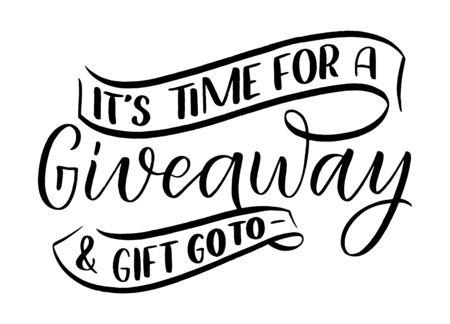 Vintage card with giveaway lettering. Calligraphy text. Decoration template. Vector illustration for holiday design.