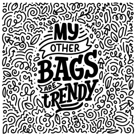 Eco bag print for cloth design. Retail advertising. Lettering quote for environment concept. Organic design template. Typography vector illustration. Ilustração