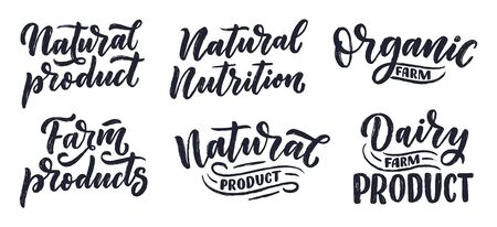 Lettering quotes, great design for any purposes. Vector slogans illustration for logotype creation. Tasty breakfast. Stockfoto - 131648071