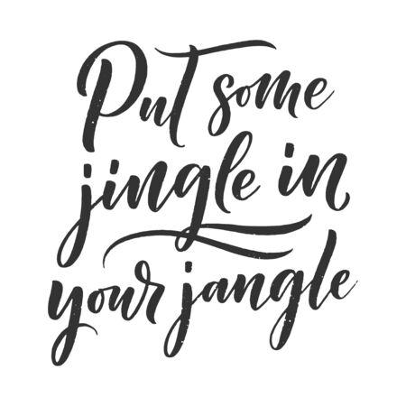 Christmas quote. Winter xmas slogan. Hand drawn Calligraphic lettering. Inspirational text for invitation design. Vector illustration Ilustração Vetorial