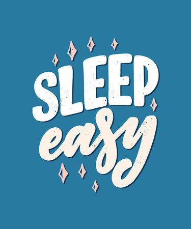 Lettering Slogan about sleep and good night. Vector illustration design for graphics, prints, posters, cards, stickers and other creative uses Stock fotó - 135139790