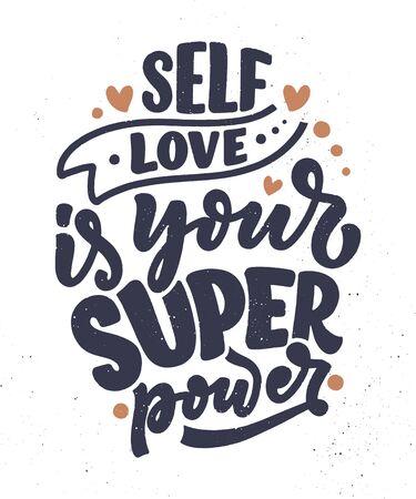 Citazione scritta Selfcare per blog o vendita. È ora di qualcosa di carino. Bellezza, cura del corpo, cosmetici premium, cibo delizioso e gustoso, ego. Calligrafia moderna. Stampa disegno vettoriale