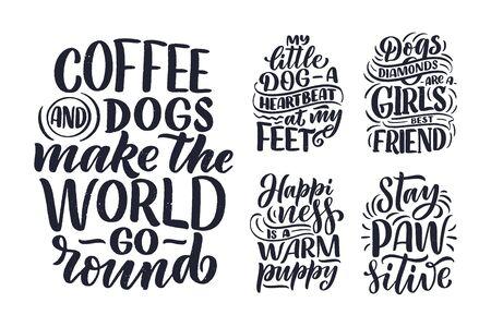 vector illustration funny phrases hand drawn inspirational