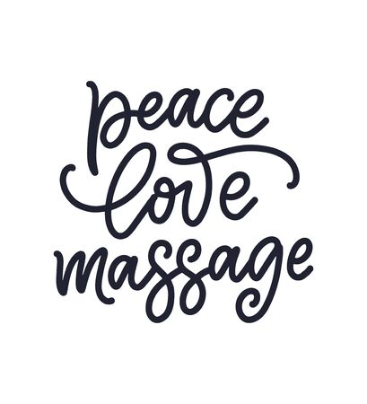 Fun slogan about massage. Lettering typography quote. Hand drawn inspirational, motivational poster. Ilustrace