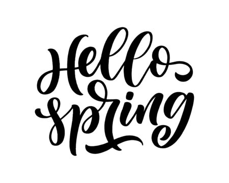 Spring time lettering greeting card. Fun season slogan. Typography poster or banner for promotion and sale design. Calligraphy print. Vector illustration