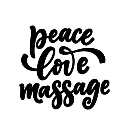 Fun slogan about massage. Lettering typography quote. Hand drawn inspirational, motivational poster. Cosmetology print, badge, logo, tag. Vector illustration