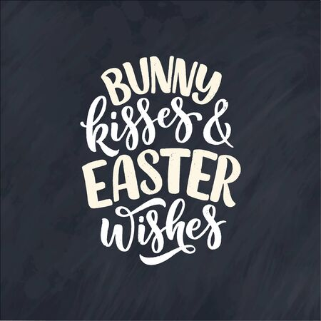 Calligraphy lettering slogan about Easter for flyer and print design. Vector illustration. Template banner, poster, greeting postcard.