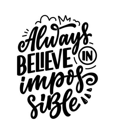 Hand drawn lettering quote in modern calligraphy style about business motivation. Inspiration slogan for print and poster design. Vector Vektoros illusztráció