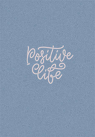 Positive lettering slogan with doodle elements. Funny quote for blog, poster and print design. Vector illustration. Vector illustration