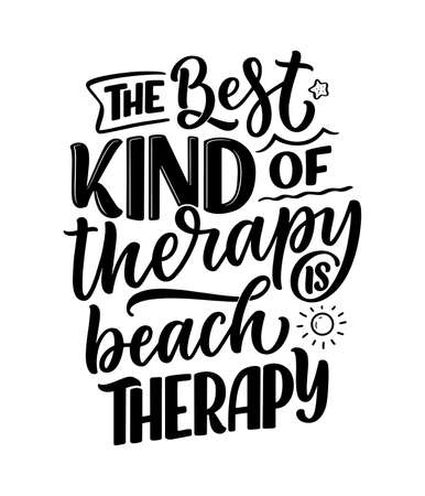 Lettering slogan about therapy. Funny quote for blog, poster and print design. Modern calligraphy text. Mental healthcare