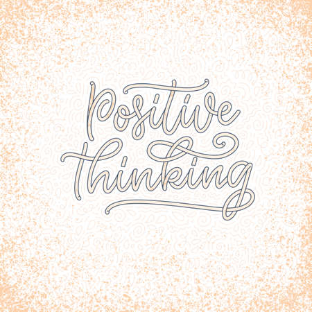 Positive lettering slogan with doodle elements. Funny quote for blog, poster and print design. Vector Иллюстрация