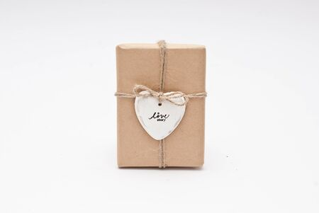ceramic heart: Gift decorated with ceramic heart