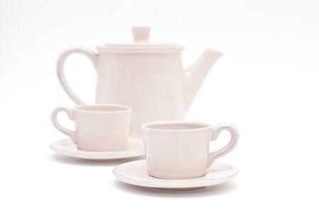 teacups: Teacups and teapot