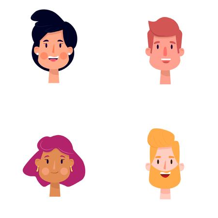 Vector illustration of cartoon people. Ilustração