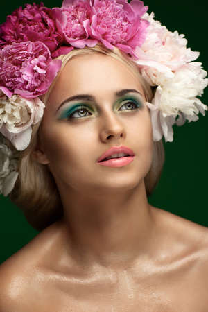 Styled Fashion Portrait. Professional Make-up.Makeup  Stock Photo - 24273117