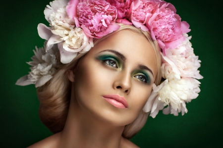 Styled Fashion Portrait. Professional Make-up.Makeup  Stock Photo - 24273119