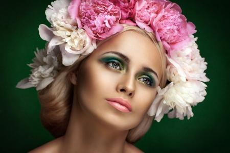 Styled Fashion Portrait. Professional Make-up.Makeup Stock Photo - 24273119