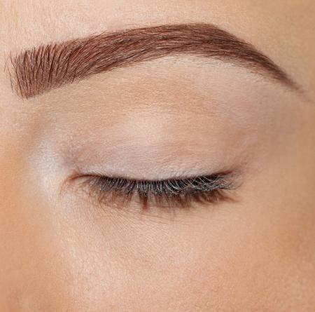 化粧をせず目を閉じる 写真素材