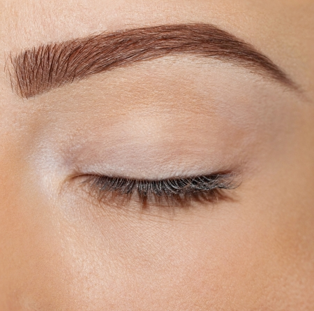 close up ogen zonder make-up Stockfoto