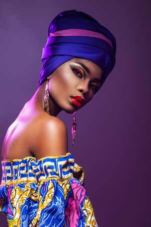 evening dress African woman