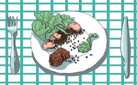 dinner plate: Dinner plate. Vector illustration.