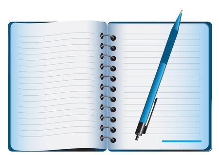 pad pen: bloc de notas, bol�grafo Vectores