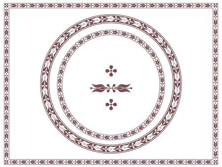different shapes: Ornamental frames and decorative element, vignette, divider, header. Different shapes.