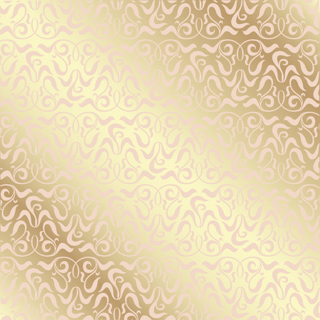 greeting card background: Decorative gold background with seamless vignette pattern for greeting card, wedding card, invitation card, certificate.