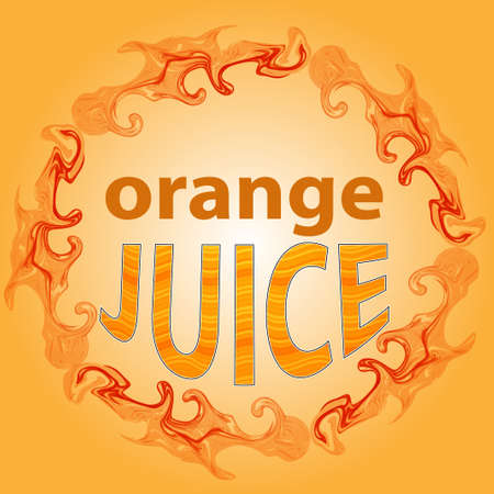 orange juice: Orange juice label, splashes of orange juice, splashes of juice pattern brush.