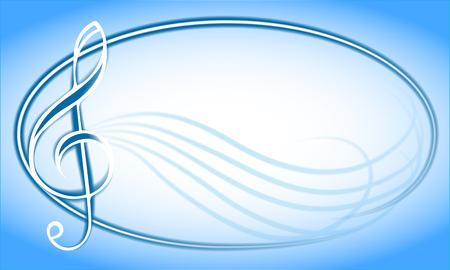 violinschl�ssel: Illustration mit Violinschl�ssel.
