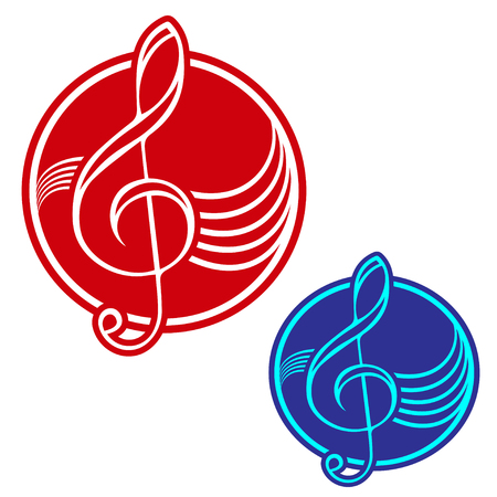 replace: Logo with treble clef, easy to replace colors.