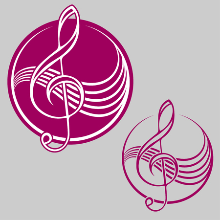 treble clef: Treble clef Illustration