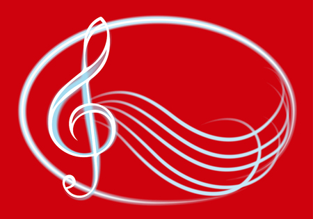 treble: Illustration with treble clef. Illustration