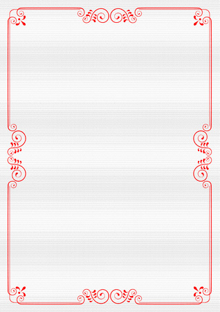 Decorative frame with swirls and leaves. Template for diplomas, invitations and certificates. A4 page format.