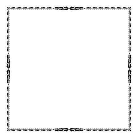 decorative frame: Square decorative frame. Illustration
