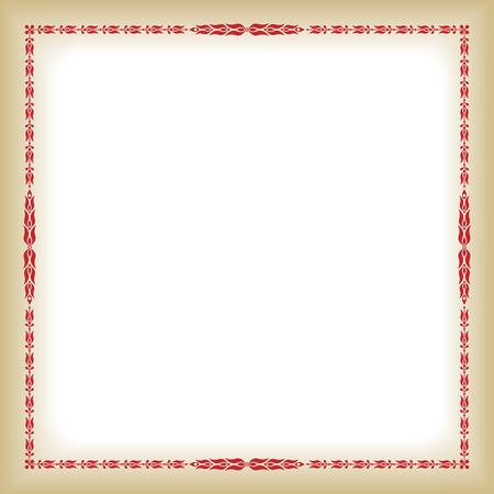 decorative frame: Square decorative frame on background.