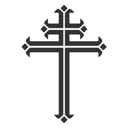 cross vector: Ornamental catholic cross, vector illustration.