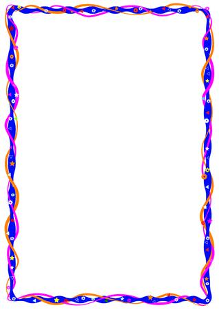 a4: Decorative frame for kids diplomas, A4 page format CMYK color mode.