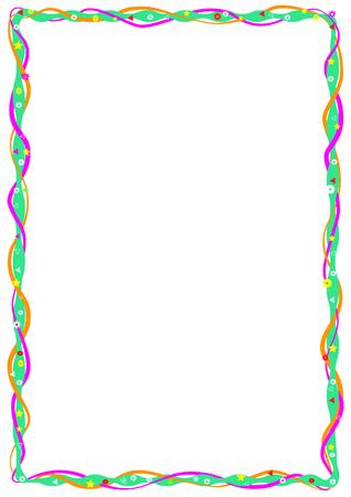 Decoratief frame voor kinderen diploma's, A4 formaat afbeelding. CMYK-modus.