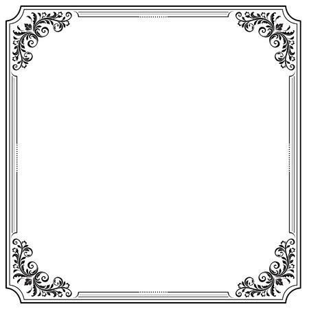 vignettes: Black square decorative frame with vignettes. Letter page format