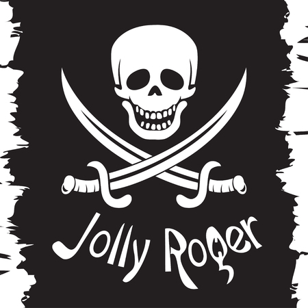 Jolly Roger, pirates flag, skull and daggers.