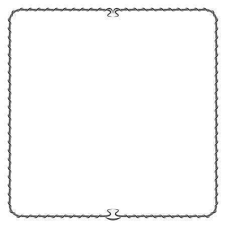 the frame: Simple black decorative frame.