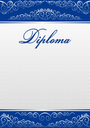 a4: Template for diploma, certificate, A4. Illustration