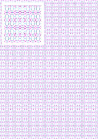 tangier: Tangier grid. Line weight is 0.1 mm. Letter page format. The swatch is included in file. Illustration