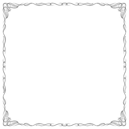 Decoratief vierkant zwart frame.