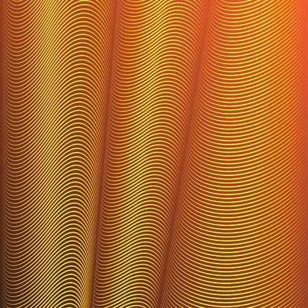 folds: Bright abstract vector background with lines forming optical illusion of folds.