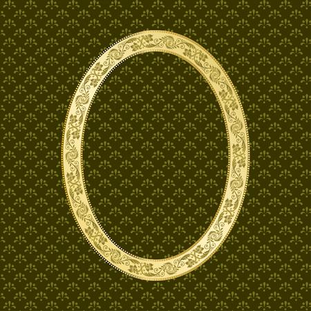 oval frame: Decorative oval frame for portrait.