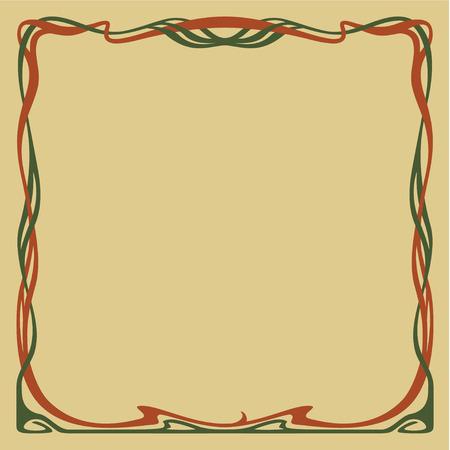 artnouveau: Decorative frame in art-nouveau style.